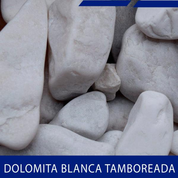 Dolomita blanca tamboreada